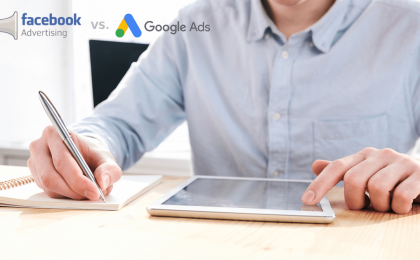 Promovare Facebook ads vs. Google ads